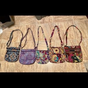 Vera Bradley lot purse mailbag hipster heather